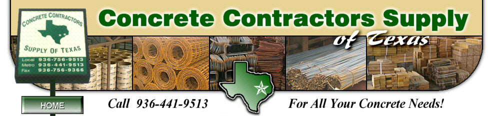 Concrete Contractors Supply of Texas - Conroe, TX - Rebar